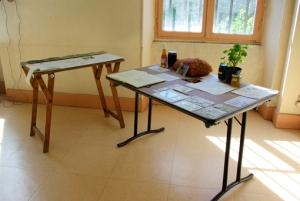 table de S. Cailleau et présentation de ses extraits de paysages.