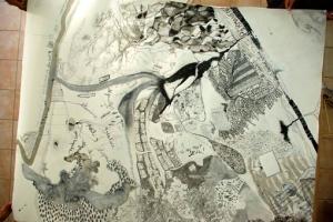Carte imaginaire de l'aire de butinage de Sainte-Croix?